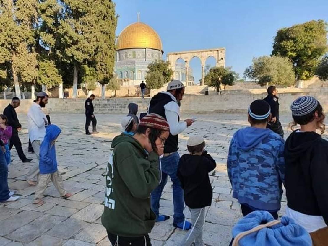 144 settler break into Al Aqsa mosque